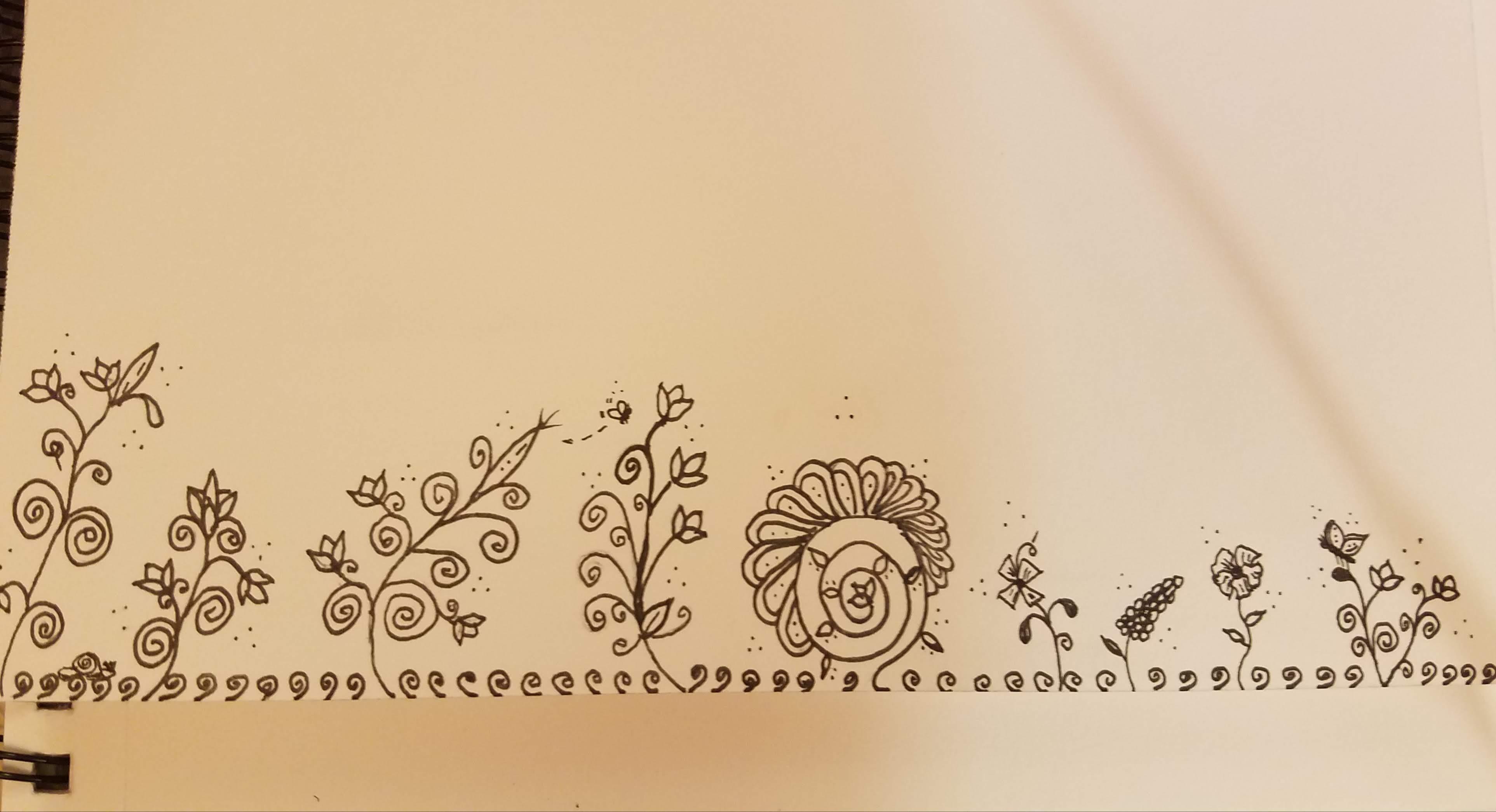 flower-doodle-in-ink